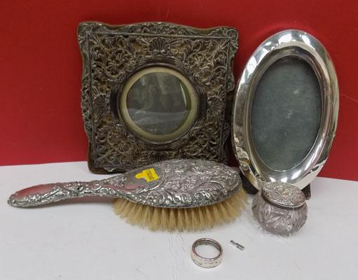 Selection of assorted silver items