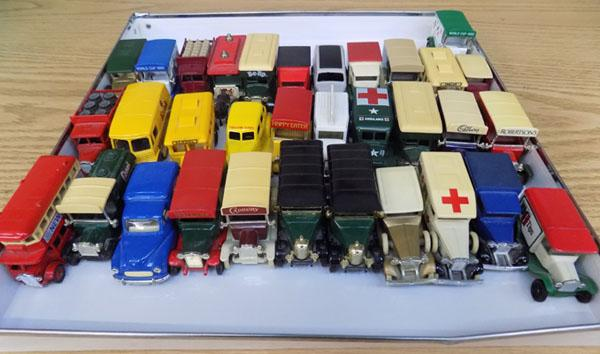 Selection of collectable cars