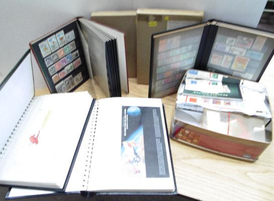 Stamp albums and stamps