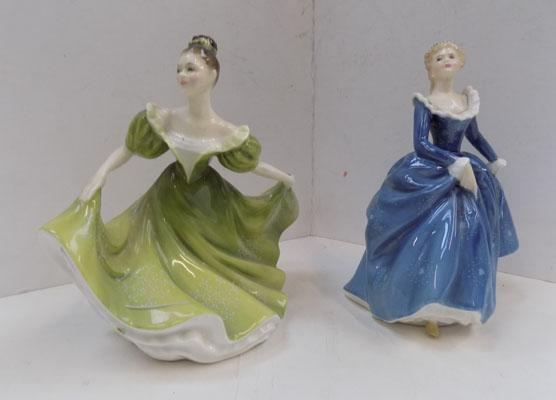 Pair of figurines-Royal Doulton 'Fragrance' & Royal Doulton 'Lynne'