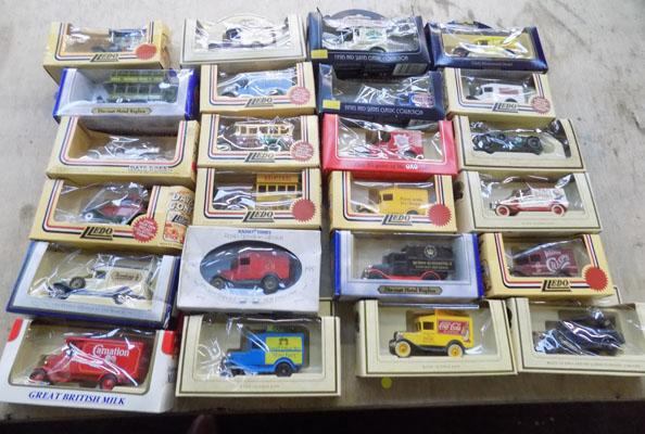 Selection of boxed collectable cars