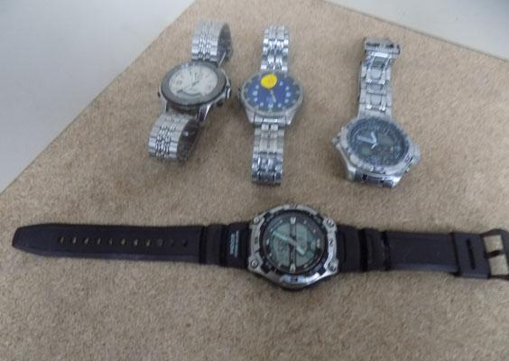 Collection of four men's watches