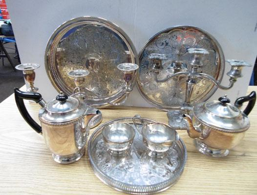 Assorted plateware