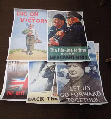 7 1939 - 1945 wartime posters