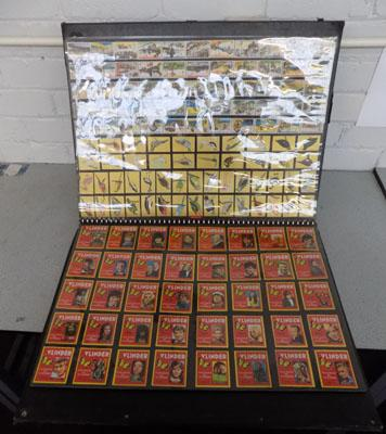 Very large book of complete cigarette card collections