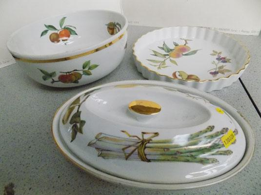 3 pieces of Royal Worcester kitchen ware