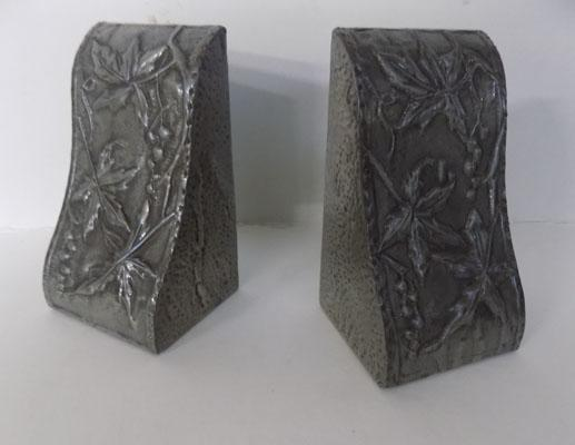 Pewter bookends