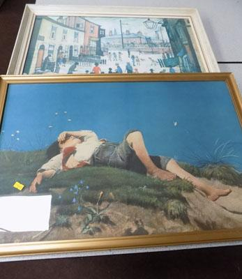 1 Lowery print 1938 and signed print Franz Von Lenbach - Shepherd Boy 1860