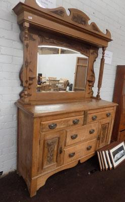 Fruit wood dresser with mirror
