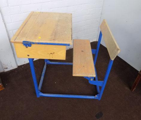 Vintage school desk and seat