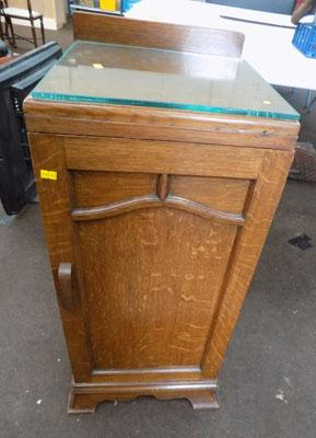 Glass top small cupboard