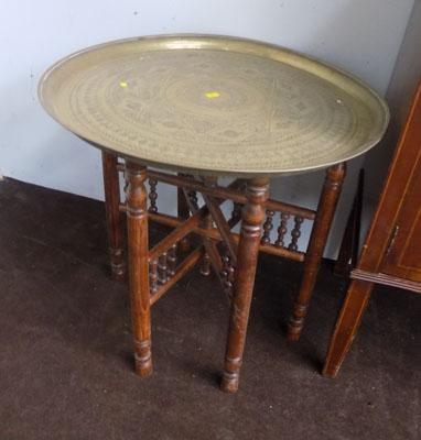 Brass plate table