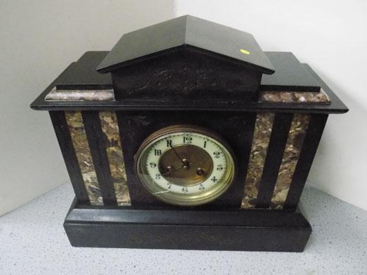 Mable and slate mantel clock (at fault)