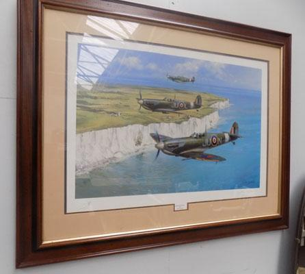 Signed limited edition print of Dover Patrol by John Young