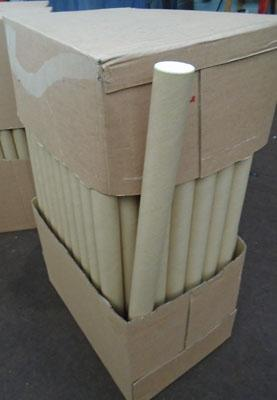 Box of new poster mailing tubes