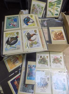 Box of 1st day covers, postcards etc.