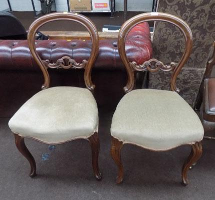 Pair of balloon backed chairs