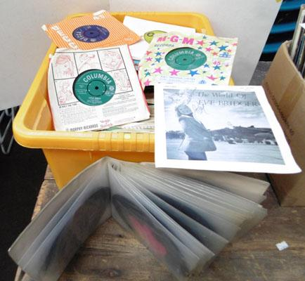 "Crate of 7"" singles 1960's to 1980's"