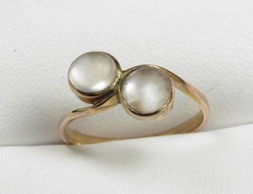 9ct Gold Moonstone ring size L