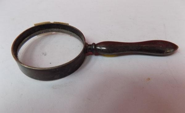 Vintage silver handled magnifying glass - Birmingham