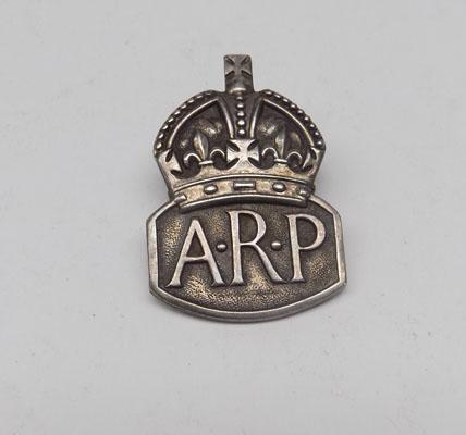 Sterling silver ARP badge