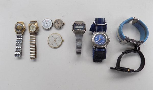 Selection of watches inc vintage Timex
