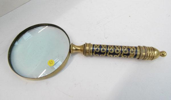 Large brass magnifying glass