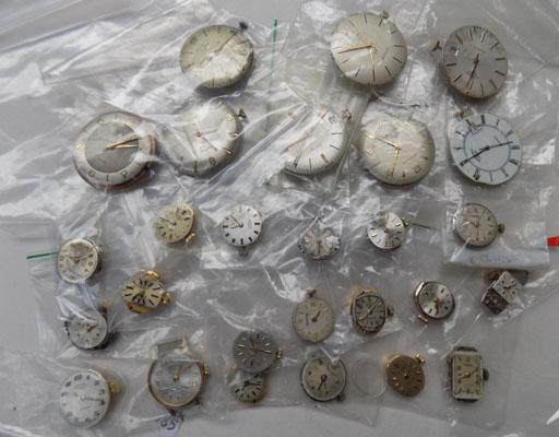Box of Rolex & Rotary watches & parts