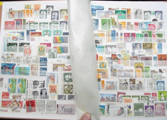 Well filled album of world stamps