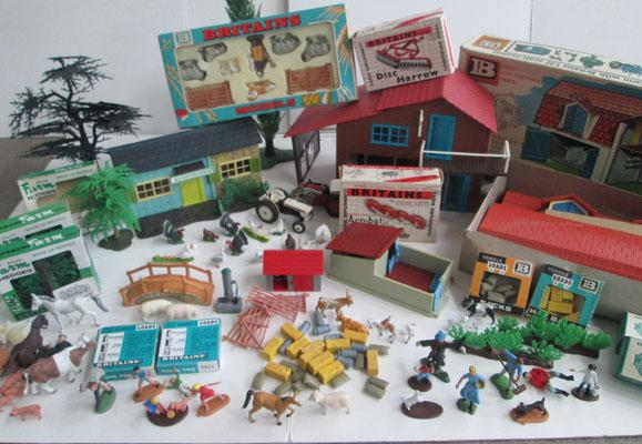 Large selection of 1960's early 70's Britains farm models/figures
