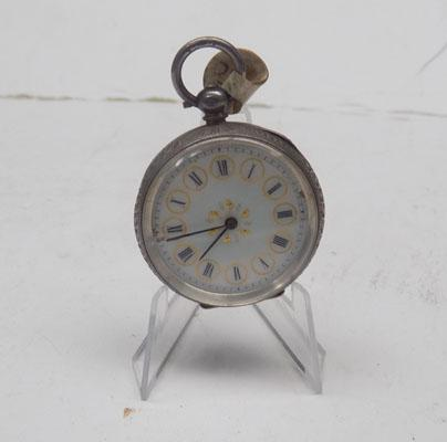 Solid silver pocket watch