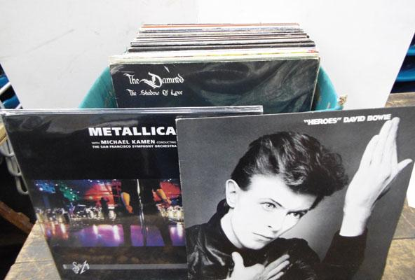 Box of LPs - 1960's and 1980's