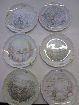 6 Wind in the Willows Royal Doulton plates