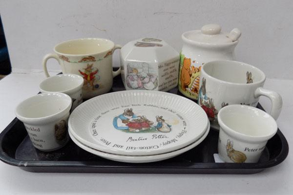 Tray of Wedgwood Peter Rabbit & others