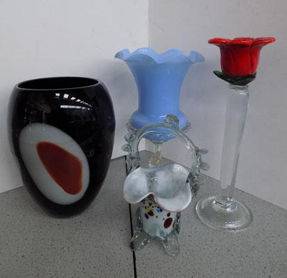 Selection of coloured glass inc Mirano