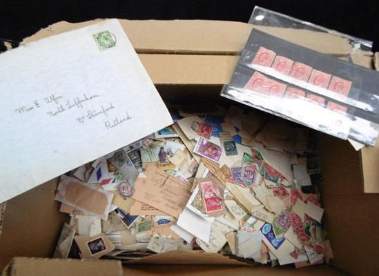 Box of stamps from Edward VII