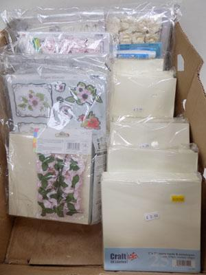 Box of craft & card making items