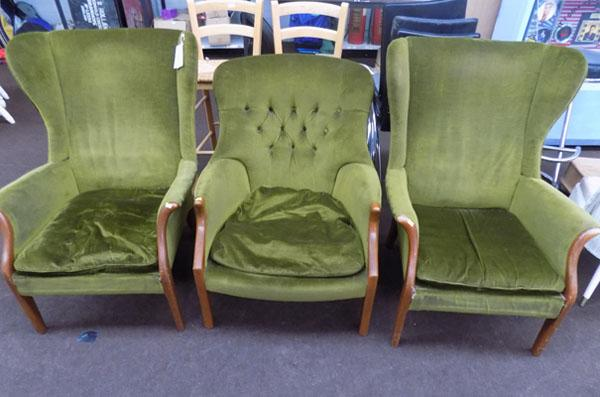 3 Parker knoll chairs
