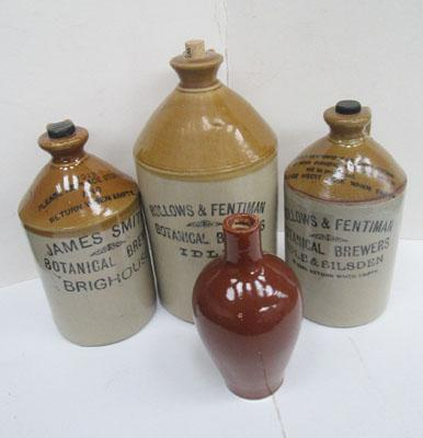 Selection of vintage brewer jugs and containers