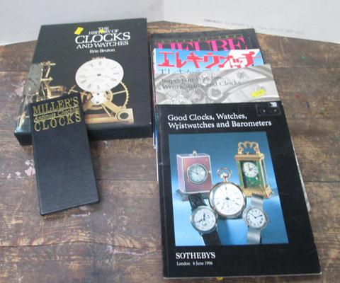 Box of books on watches and clocks