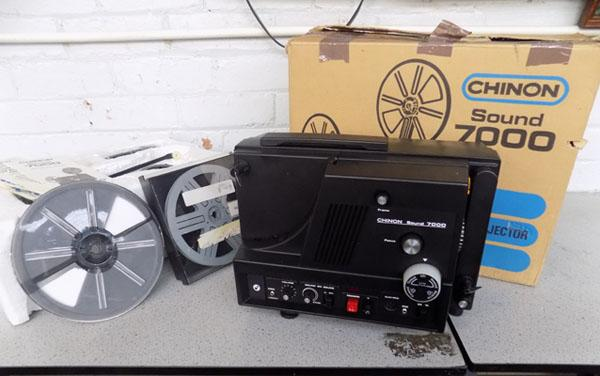 Chinon 8mm reel to reel projector