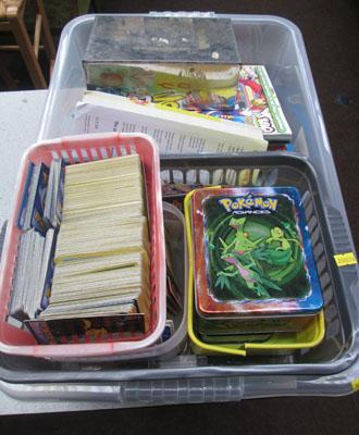 Box of collectable cards