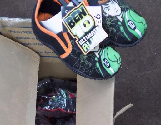 Box of Ben 10 shoes