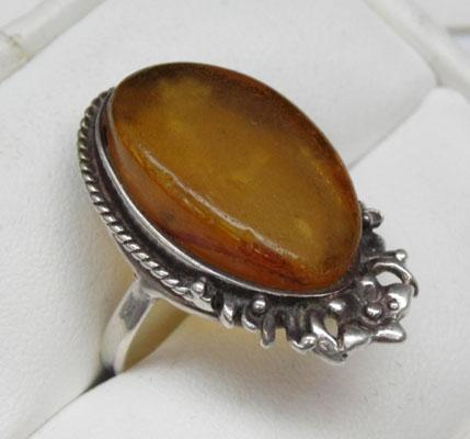925 silver amber ring