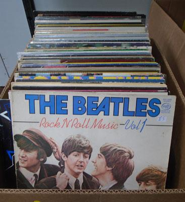 Box of collectable records LPs