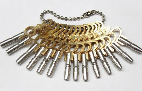 Collection of pocket watch keys (14) No1-12-0-00