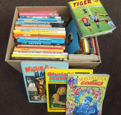 Box of vintage annuals