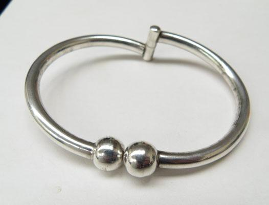 Heavy silver Torque style bangle