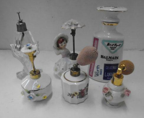 Selection of perfume bottles antique & vintage