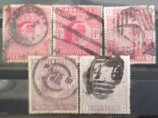 Collection of Queen Victoria & Edward VII high value stamps
